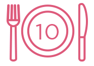 10 meals donated