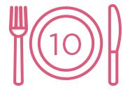 10 repas scolaires distribués