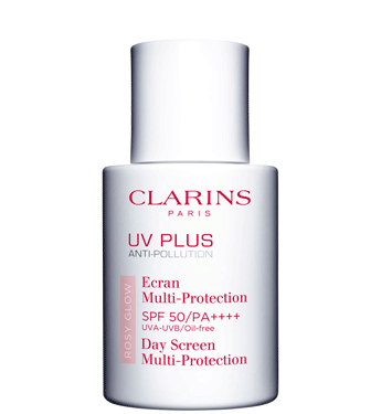 ... Clarins UV Plus Anti Pollution SPF 50 PA Sunscreen in Rosy Glow Source UV Plus
